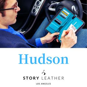 本革 パスポートケース カバー STORY LEATHER ストーリーレザー Hudson シュリンク クロスエンボス 国内正規品
