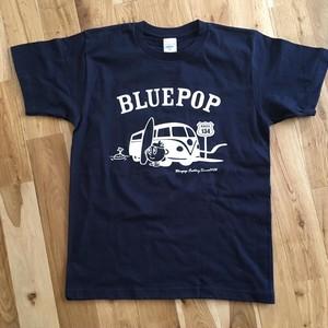 【売り切れ】ブルーポップ車Tシャツ(ネイビー)半袖 ヘビーウエイト