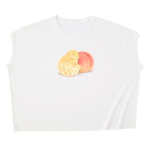 白桃・黄桃うさぎ スリーブレスTシャツ