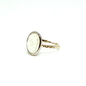 rosecut lemonquartz ring - #11.5