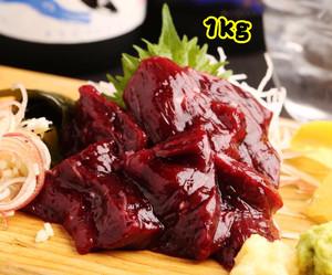 〈毎日食べてほしい大人気商品〉超お徳用 鯨 1級赤身肉(お刺身用)ブロック【1kg】【冷凍品】