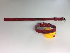 小型犬用 革製の首輪