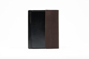 アモルフ 閉じる ブックカバー 手帳カバー A6(文庫)サイズ クラリーノ 黒 ✕ 倉敷帆布ブラウン