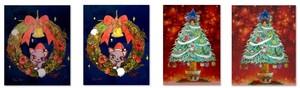 【HAPPY HOLIDAY!】オリジナルクリスマスイラスト(2枚セット+おまけ)【ダウンロード限定商品】