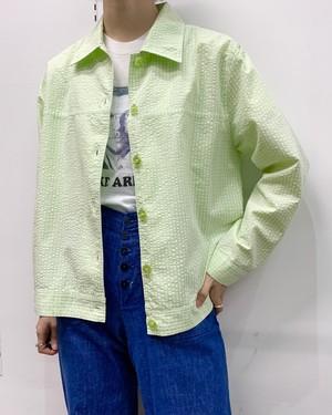 1990s DRAPER'S&DAMON'S seersucker shirt  【M】