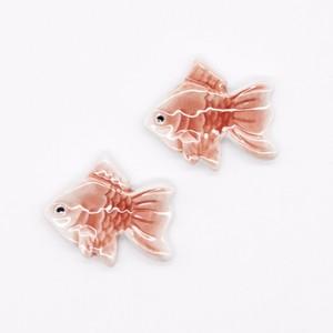 【限定1点 アウトレット品】有田焼 箸置き ペアセット 金魚 254377 豆豆市185