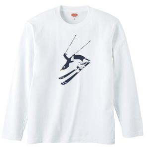 [ロングスリーブTシャツ] 直滑降ペンギン