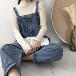 【即納♡】Simple denim overalls 5370