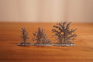 Wilhelm Schweizer 錫のオブジェ 低い木と草