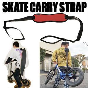 スケート キャリーストラップ オレンジ スケボー・ストライダーの持ち運びに便利