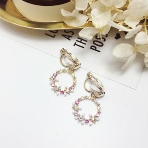 【goods】ファッションラインストーン花イヤリング22308461