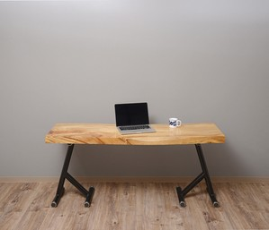 天然一枚板のテーブル(高さ可変式)