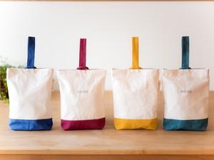 『シンプルで愛らしい』キャンバス生地の靴袋(小学生)