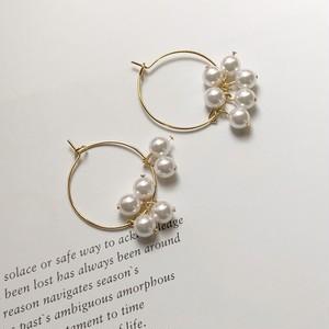 ring pearl earring