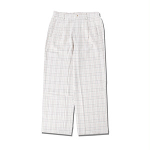 RELAX CHECK PANTS / BEIGE