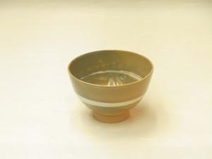 賀洛窯 清水日呂志 作 刷毛目 抹茶碗