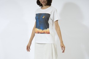 【NEW】夜空と三日月の、Tシャツ