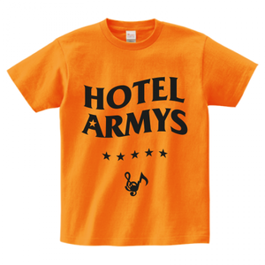 H/A LOGO STAR ICON T-SHIRTS ORANGE