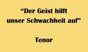 """テノール用 """"Der Geist hilft unser Schwachheit auf"""" BWV 226 Karaoke for Tenor"""