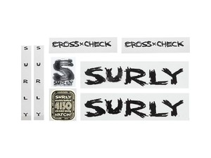 "SURLY ""CROSS-CHECK DECAL"" Black"