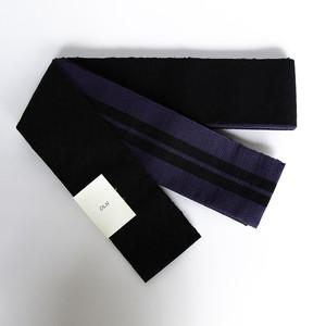 「角帯 コットンスラブ:ブラック」 天然素材の優しい風合いがコーディネイトの幅を広げます。