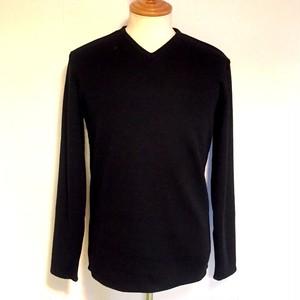 Warm V-Neck Cut & Sewn Black