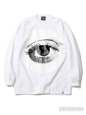 【SILLENT FROM ME】 HOLE -Crew Sweat-WHITE