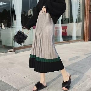 color knit skirt 3color