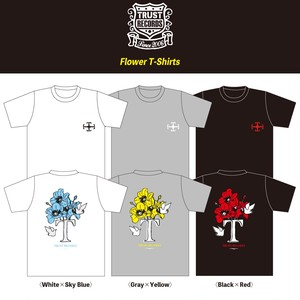 【TRUST RECORDS】Flower T-Shirts