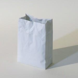 名作花器 new crinkle super bag #1 ホワイト