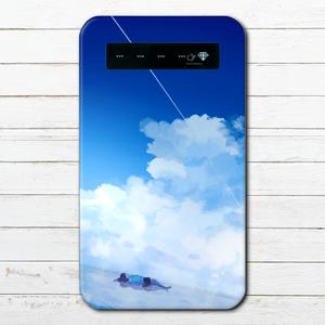#042-029 モバイルバッテリー 《私をさらって》 作:澄まし ノスタルジー系 綺麗系  iphone スマホ 充電器