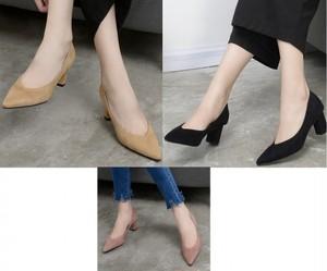 【送料無料】ポインテッドトゥ 無地 シンプル エレガント 通勤 歩きやすい 履きやすい キャメル ブラック ピンク パンプス