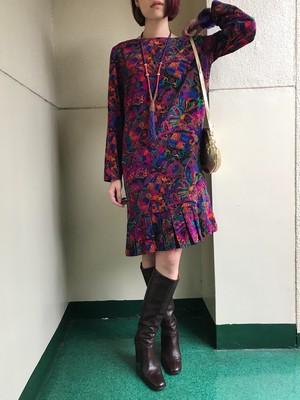 Vintage paisley multi color dress (ヴィンテージ  ペイズリー柄 マルチカラー ワンピース )