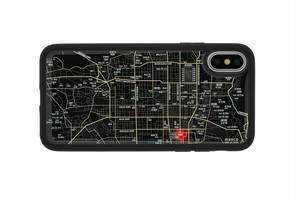 FLASH 京都回路地図 iPhoneX/XSケース 黒【東京回路線図A5クリアファイルをプレゼント】