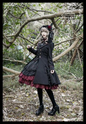Luna Planetarium -Dimples of Evil- Gothic Ouji Lolita Jacket Woolen Fabric Version Thick Version