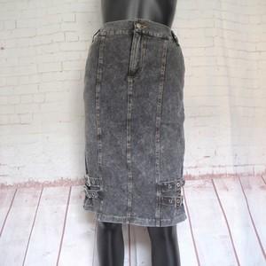 ダブルベルトミディアム丈スカート