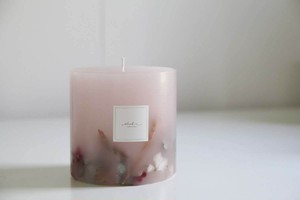 Botanical candle -pink-