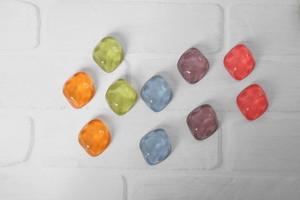 ダイヤ型*氷ガラス風クリアカボション*2個セット