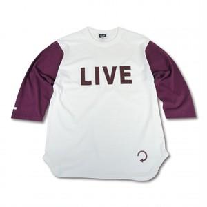 EVILACT(イーブルアクト) / Backwards 3/4 sleeve Baseball T's(natural×burgundy)