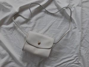 "AMERICA 1990's OLD COACH ""Off white"" shoulder bag"