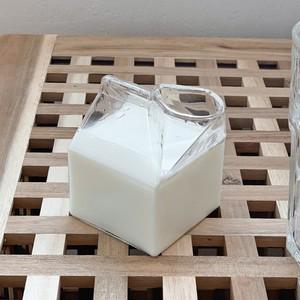 牛乳パック型  耐熱グラス
