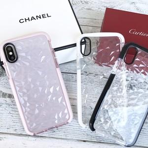 <即納 送料無料>クリアケース ダイアモンド柄 iphoneケース バンパーケース ソフトケース iPhone7/8/X/XS対応