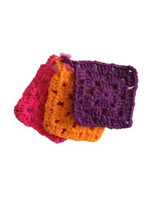Ecoたわし 手編み アクリルたわし 3枚セット