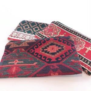 ポーチ シンプル 中 アルメニア織 小物入れ 外国