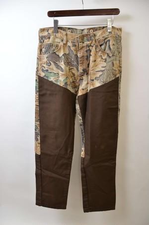 【w34】WRANGLER ラングラー LEAF CAMO PANTS ペインターパンツ 400612190703