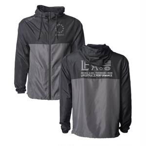 LIVE FIT Hardline Windbreaker- Black/Grey