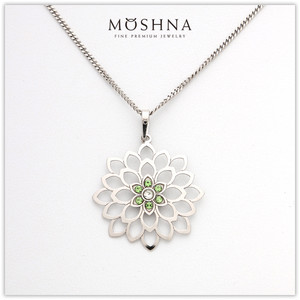 【MOSHNA:モシュナ】SILVER SET GREEN BOUQUET 花