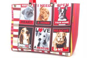 Dogs & Paris の三角キューブBag L