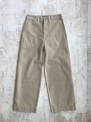 Cotton linen ox bicolor baker pants