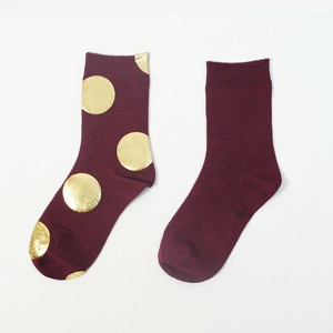 METAL SOX (4.5DOT) BORDEAUX X GOLD.